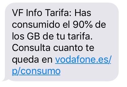 スペインのvodafone利用制限メッセージ