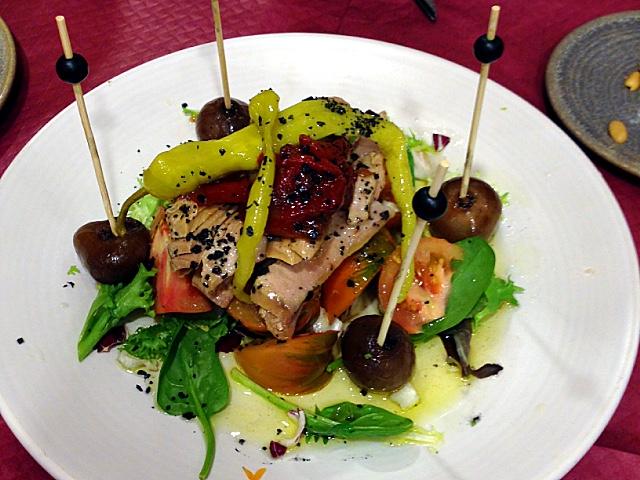 アルバセテのアランブリケのサラダ