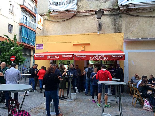 スペインのセビリアのカラコレスのバル