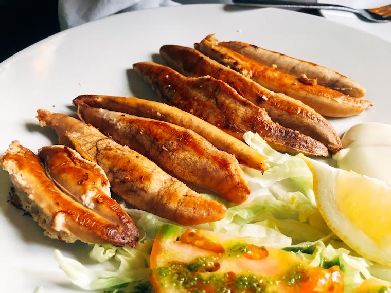 ヘレスのバル「バンデリージャス」のメルルーサの魚卵