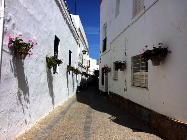スペインのロタの街角