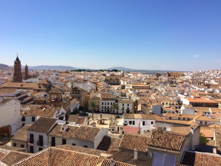 アンテケラの展望台から見た市街地