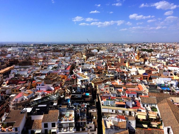 ヒラルダの塔から見たセビリア市街地