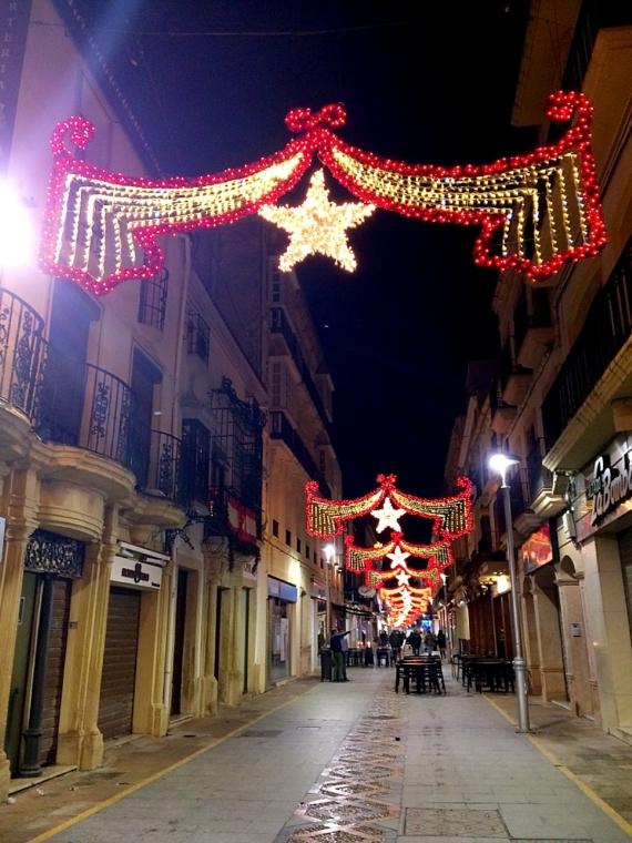 スペインロンダのクリスマスイルミネーション