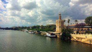 サンテルモ橋から見たセビリアの黄金の塔