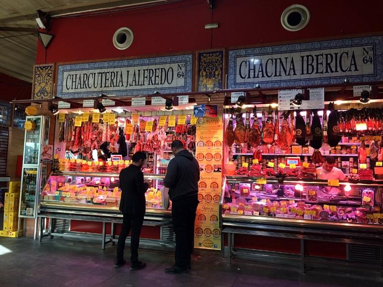 セビリアトリアナの市場