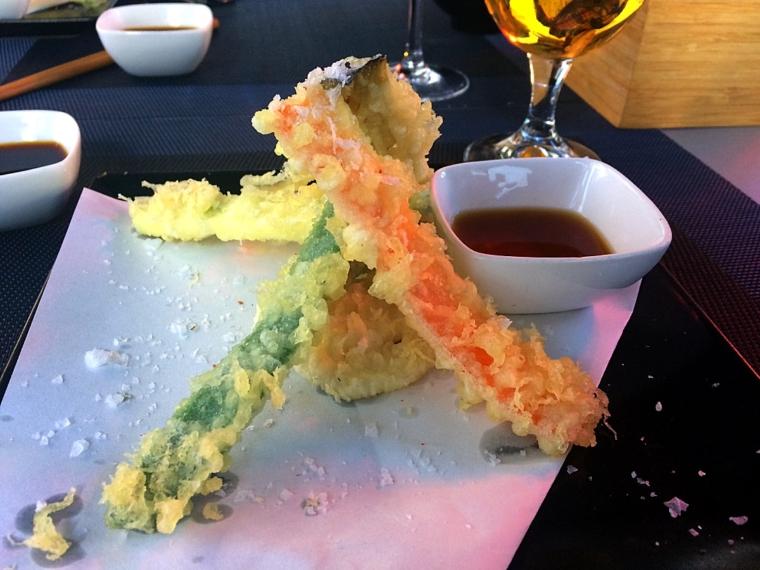 セビリア日本食レストラン山崎の天ぷら