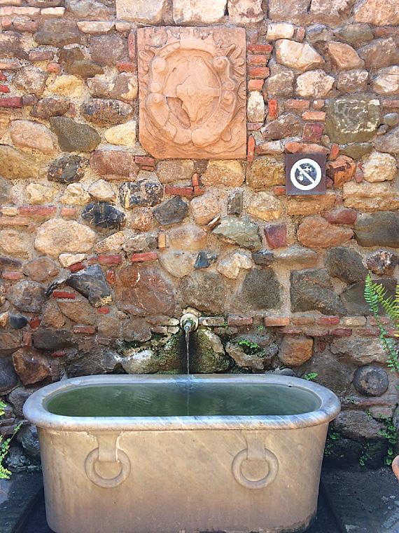マラガのアルカサバの湧き水