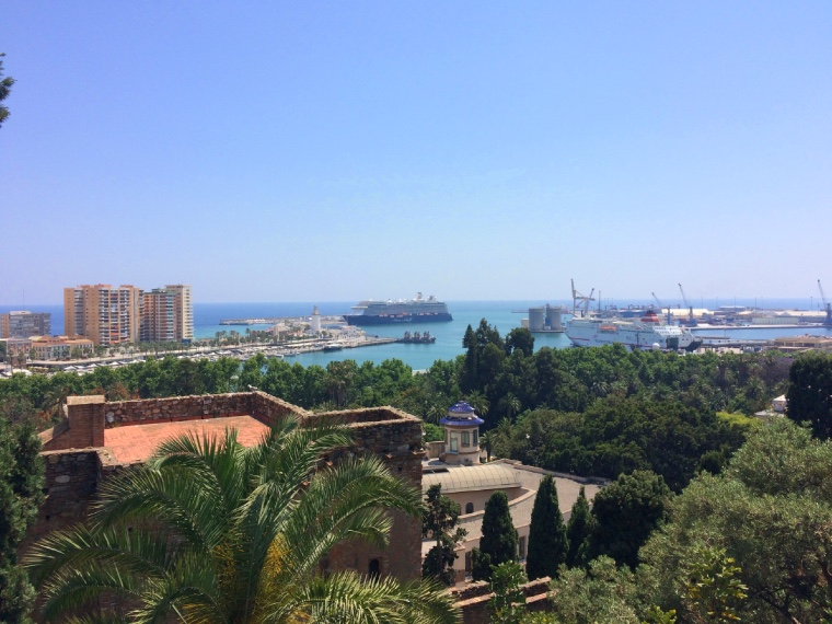 マラガのアルカサバからの景色