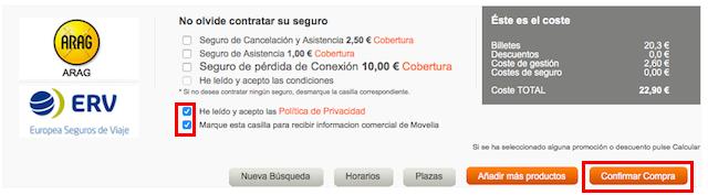 スペインのバス「COMES」のチケット購入方法