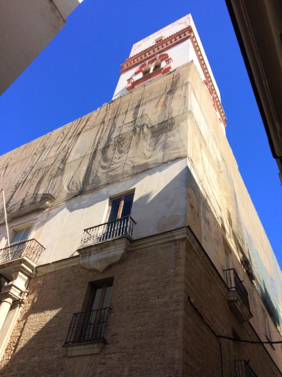スペインのカディスのタビラの塔