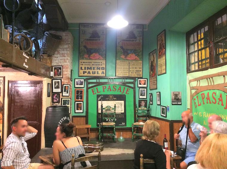 ヘレスのタバンコ「Tabanco El Pasaje」の舞台
