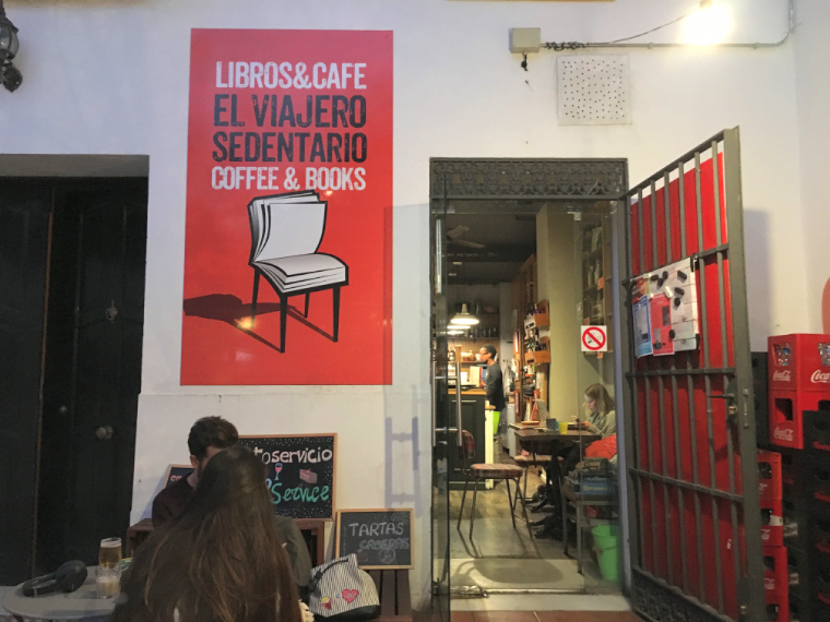 セビリアのWiFiカフェ「el viajero sedentario」の外観