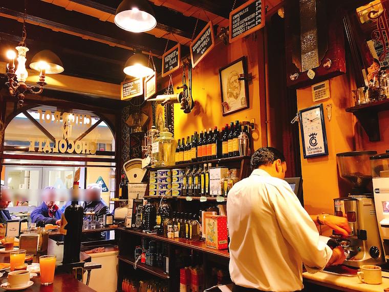 セビリア中心部のチュロス専門店「El Comercio」の中