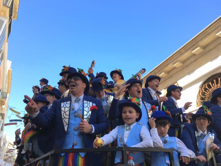 カディスのカーニバルの歌グループ