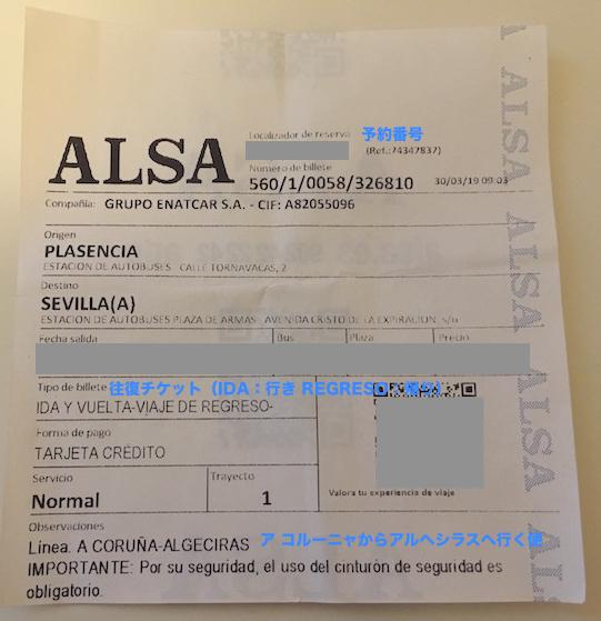 ALSAバスのチケットの見方
