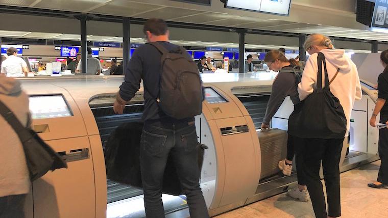 成田空港のKLMやエールフランス自動手荷物預け機は重さに厳しい