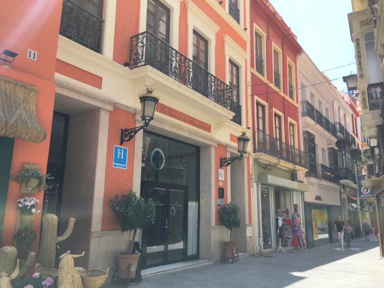 セビリアのラス カサス デ ロス メルカデレスの外観