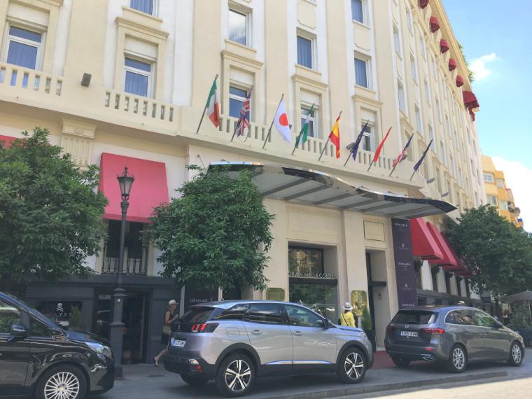 セビリアの「ホテルグランコロン」の外観