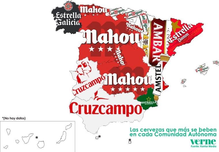 スペインのビールマップ