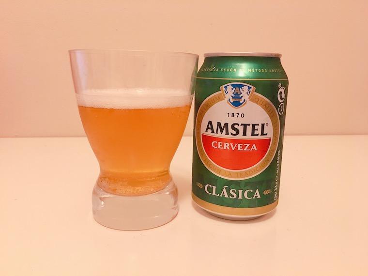 スペインのビール「アムステル」クラシカの缶ビール