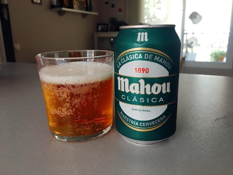 スペインのビール「Mahou」クラシカの缶ビール