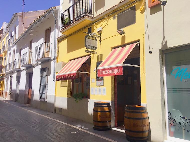 アンテケラのレストラン「Meson Adarve」の外観