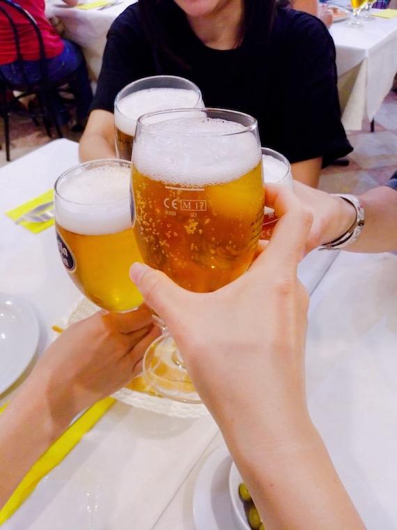 アンテケラのレストラン「Meson Adarve」のビール