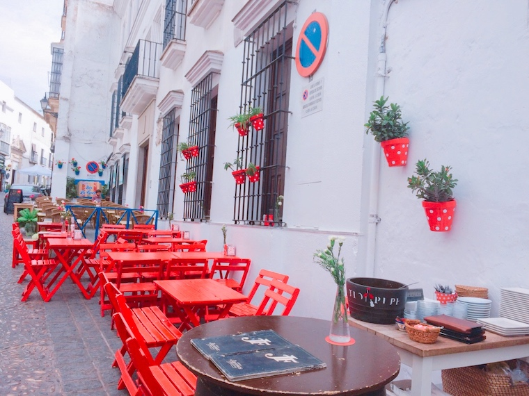 アルコス・デ・ラ・フロンテーラ旧市街地のバル