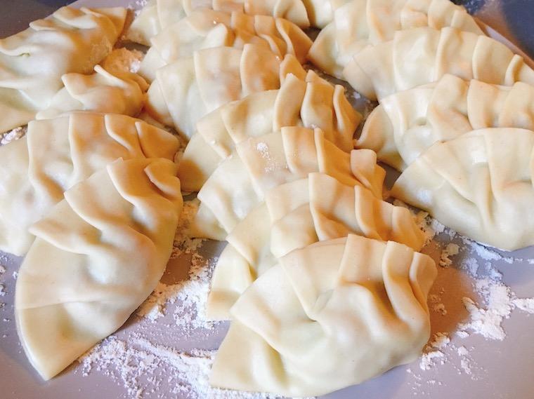 スペインのエンパナディージャ用の皮で作った餃子