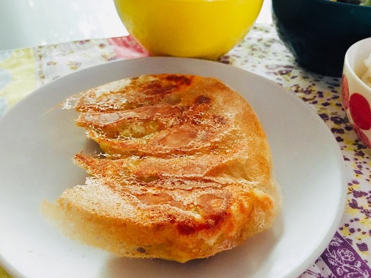 スペインのエンパナディージャの皮で作った焼き餃子