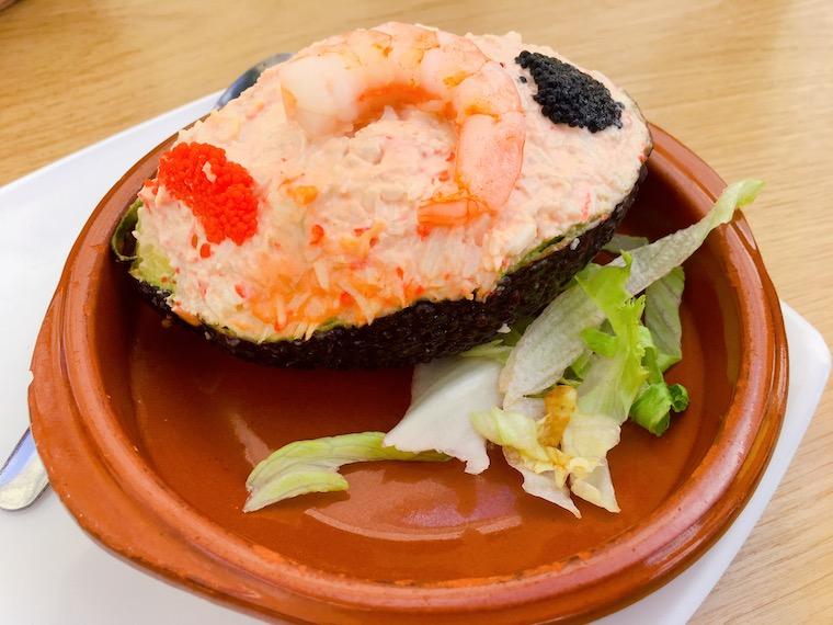 サンルーカルのバル「Taberna Juan」のアボカド