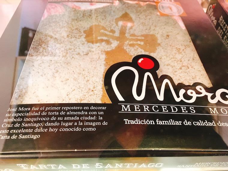 サンティアゴデコンポステーラの「Mercedes Mora」のタルタデサンティアゴ