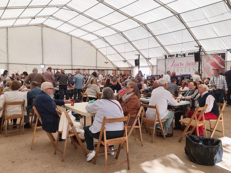 アラセナの生ハム祭りの会場