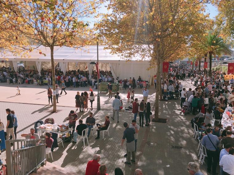 アラセナの生ハム祭りのメイン会場