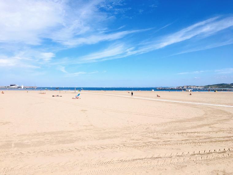 オンダリビアのビーチ