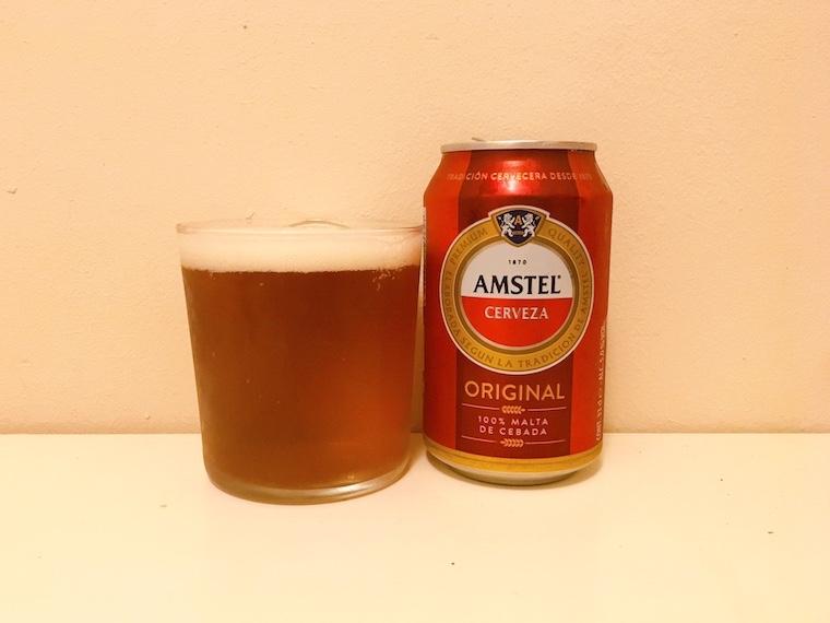 スペインの缶ビール アムステル「AMSTEL」