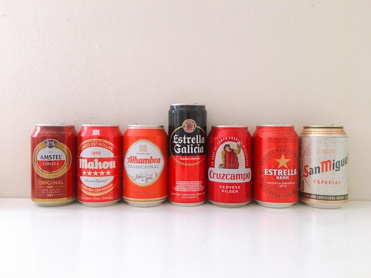 スペインの缶ビール飲み比べ