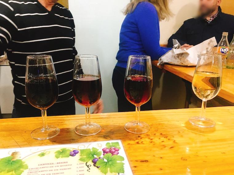 ヘレスのタバンコ「vinoteca jerezana」のシェリー酒