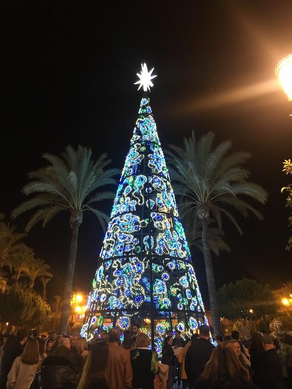ヘレスのクリスマスイルミネーション