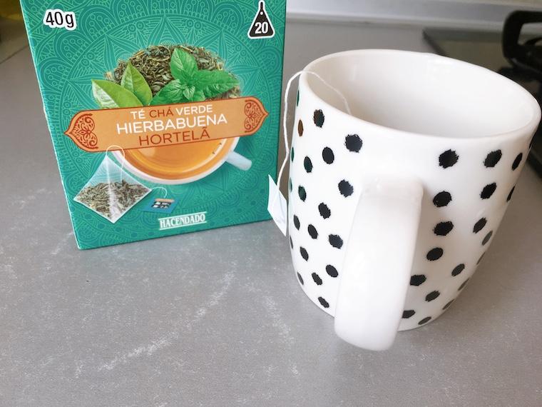 メルカドーナの緑茶ミントティー