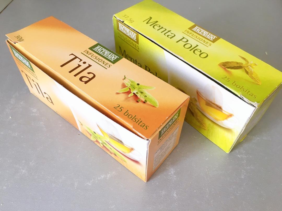 ティラ(tila)とミントティー(menta poleo)