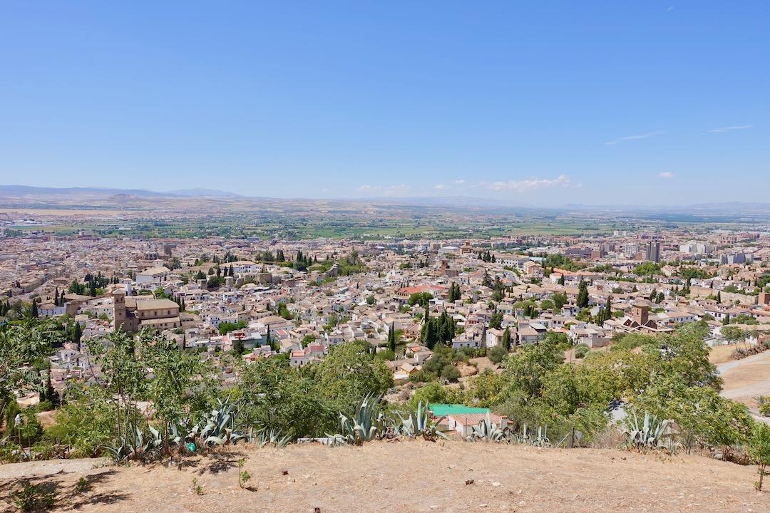 グラナダのサンミゲル展望台からの景色