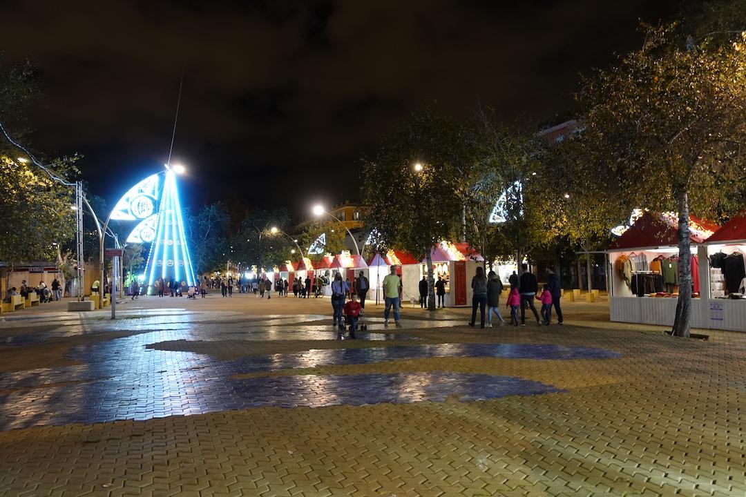 セビリアのクリスマスイルミネーション2020