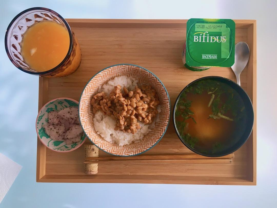 スペインで食べる和朝食