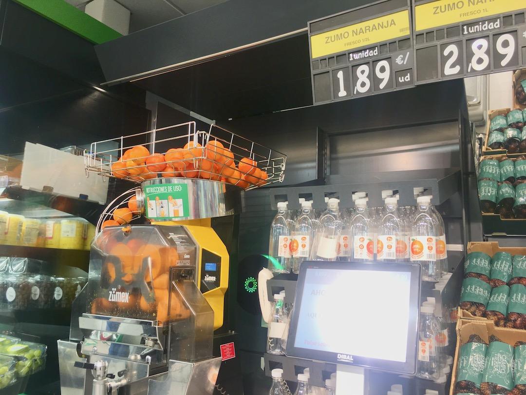 メルカドーナのオレンジ搾り機