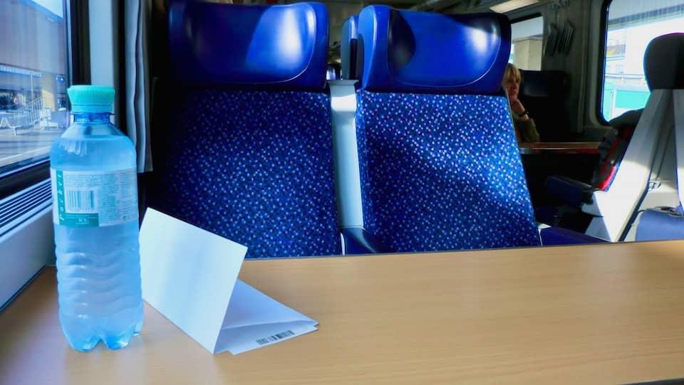 ハルシュタットへ向かう列車