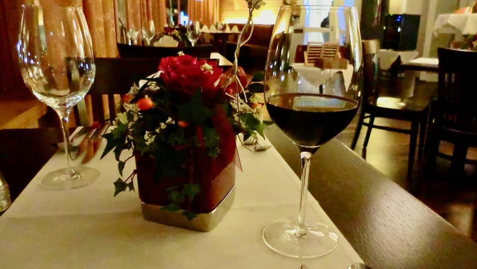 ハルシュタットのホテルの夕食