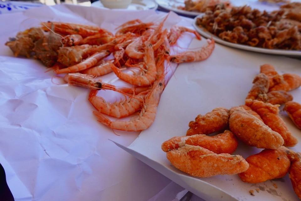 「Romerijo」の魚介のフライ