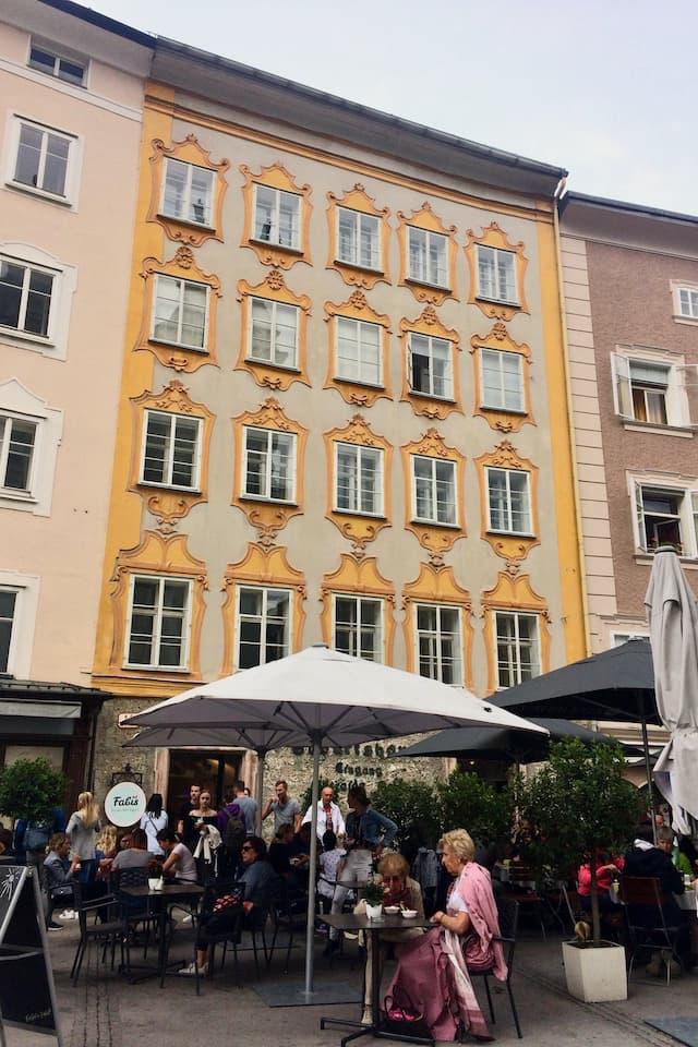 ザルツブルクのカフェ